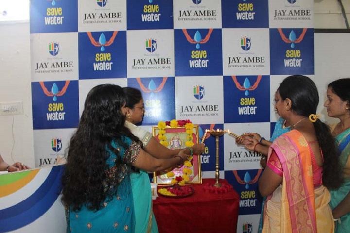 Jay Ambe International School-Lighting The Lamp