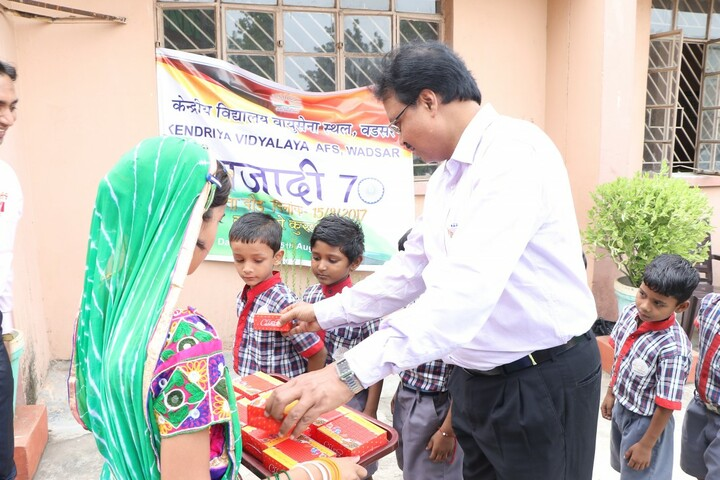 Kendriya Vidyalaya-Distribution of Chocolate