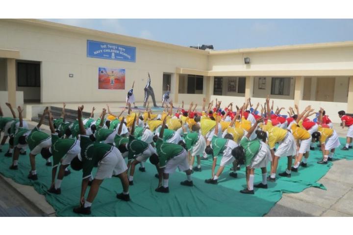 Navy Children School-Yoga Day