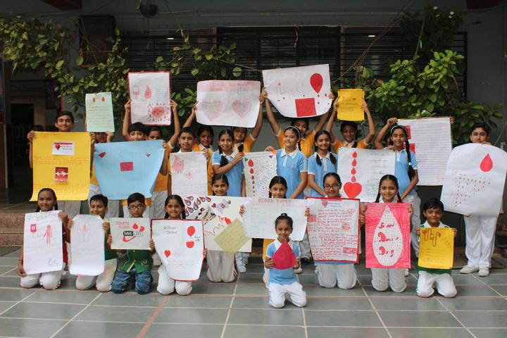 Om Shanti English Medium School-Blood Donate