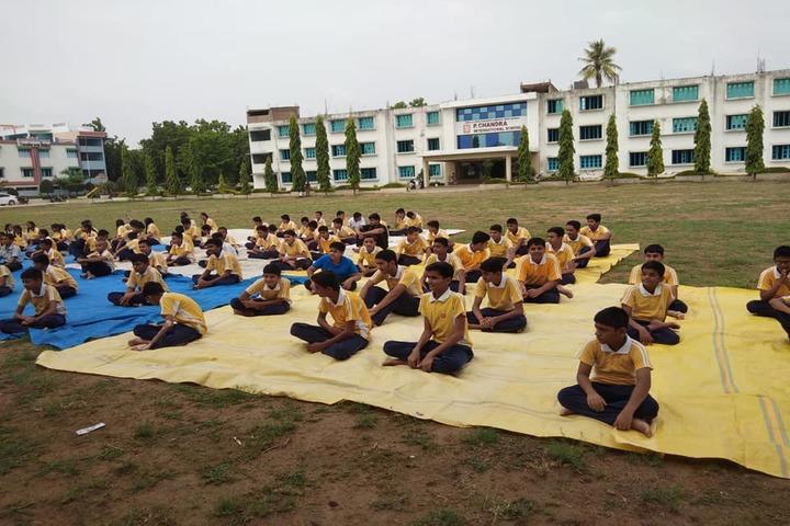 P.Chandra International School-Yoga Day
