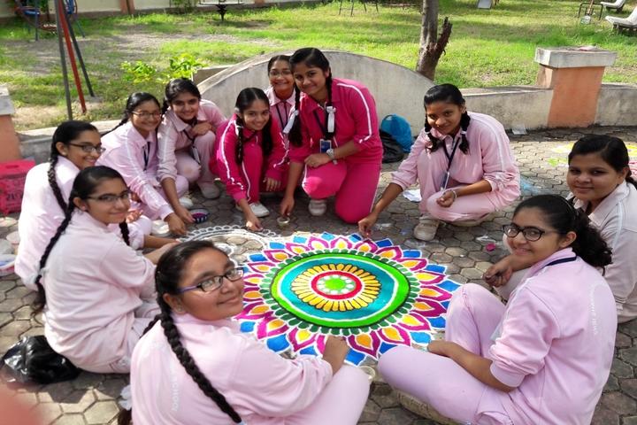 Shardagram English School-Rangoli Competition