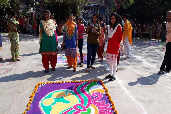 Shree Swaminarayan Goodwill School-Rangoli Competition