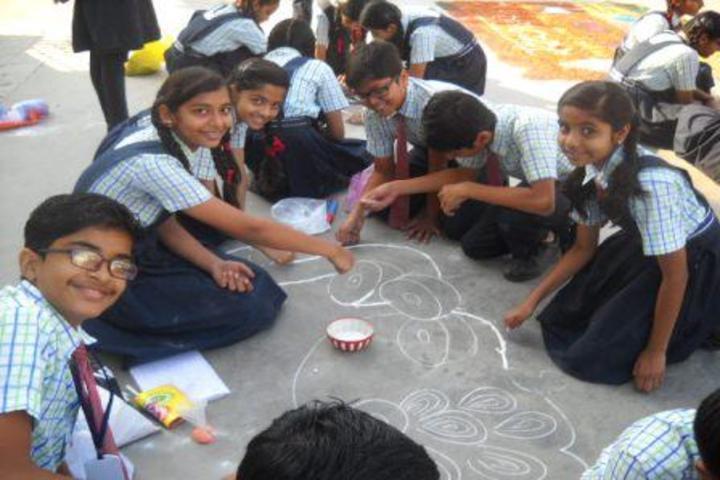 Shree Vashishtha Vidhyalaya-Rangoli Competition