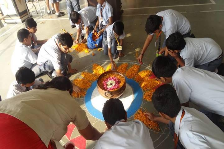 Shri Swami Narayan Academy-Rangoli Competition