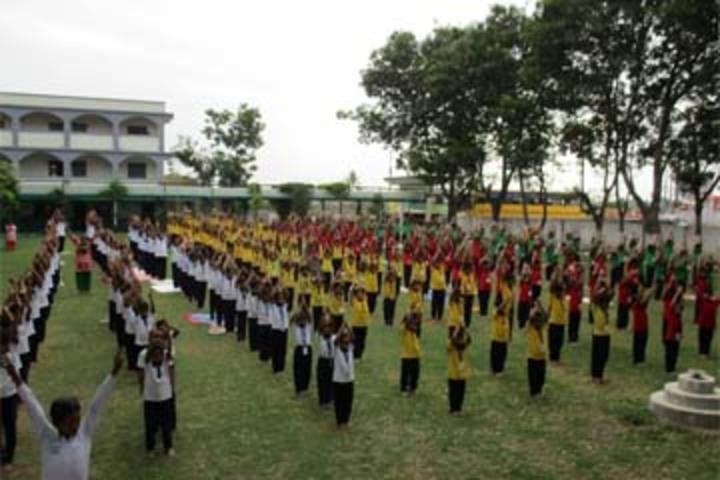 Champakali Kheruka Gyanjoti High School-Yoga Day