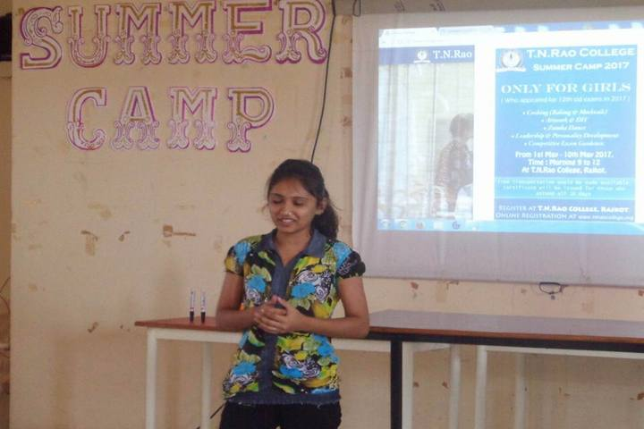 T N Rao School For Girls-Summer Camp