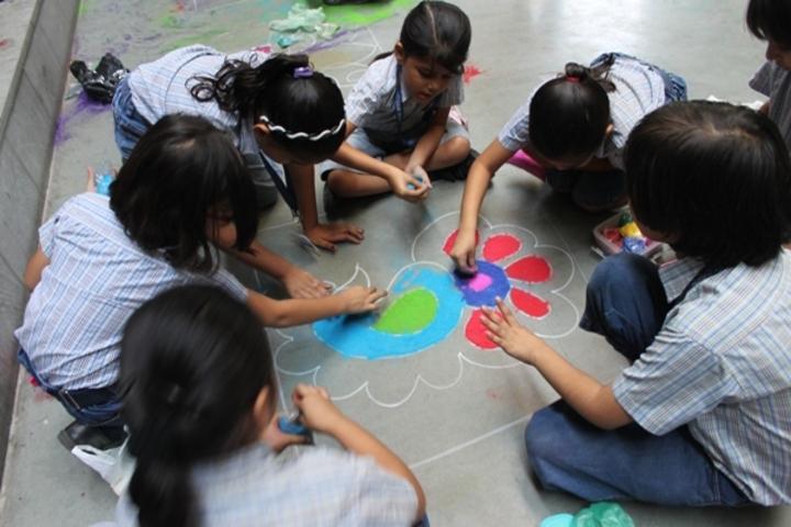 Udgam School For Children-Rangoli Making