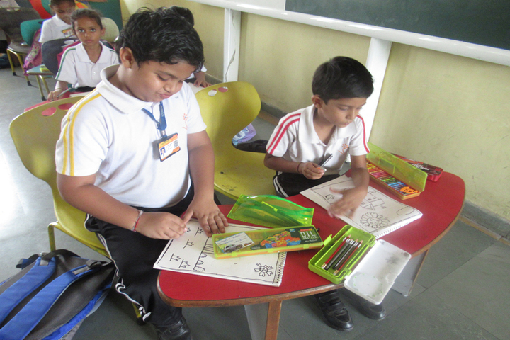 Vrajbhoomi International School-Drawing Competition