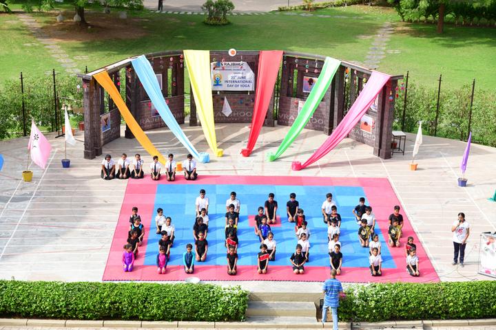 Vrajbhoomi International School-Yoga Day