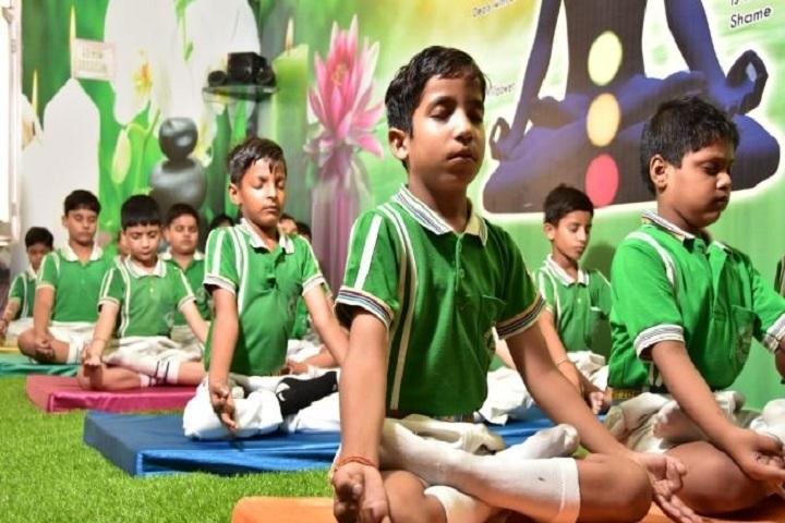A V International Public School-Yoga Class