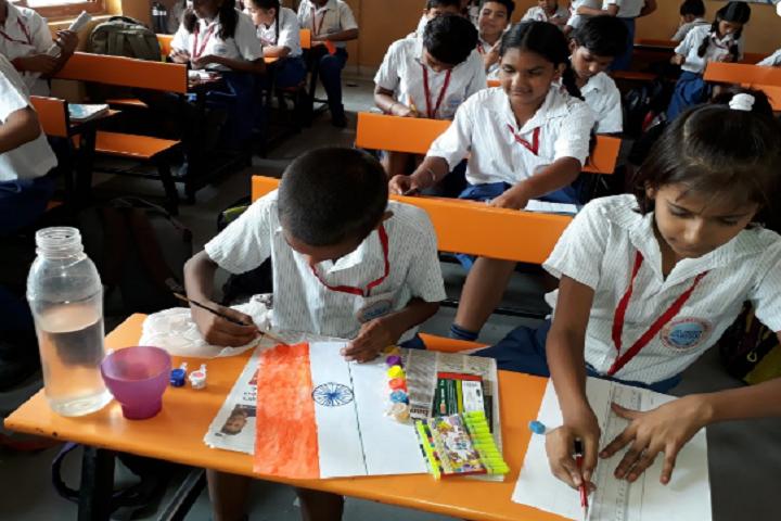 A B M Public School-Painting class