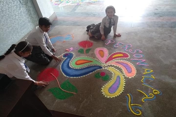 Aakash International School-Rangoli