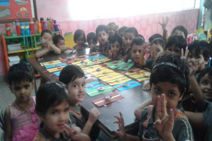 apollo international school rakhi making activity