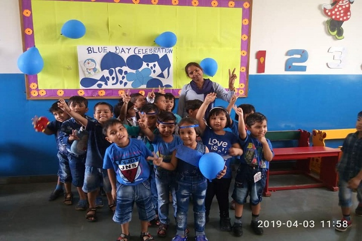 Asha Jyoti Vidyapeeth-Blue Day Celebration