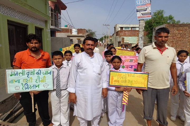B R Adarsh Senior Secondary School-Tree campaign