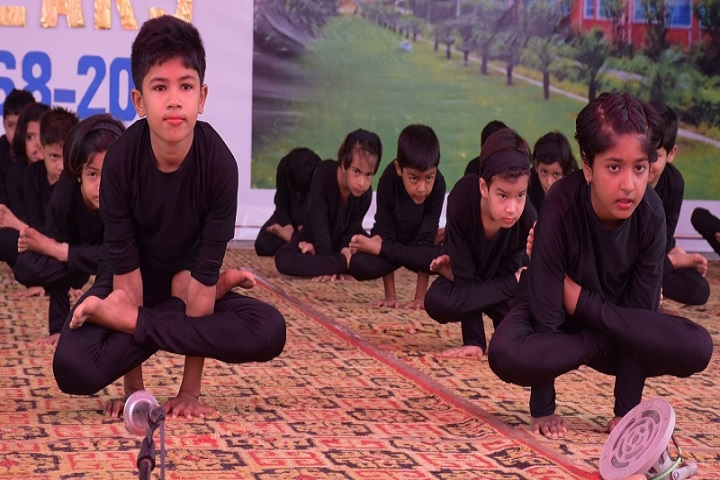 Bal Bharti School-Yoga activity