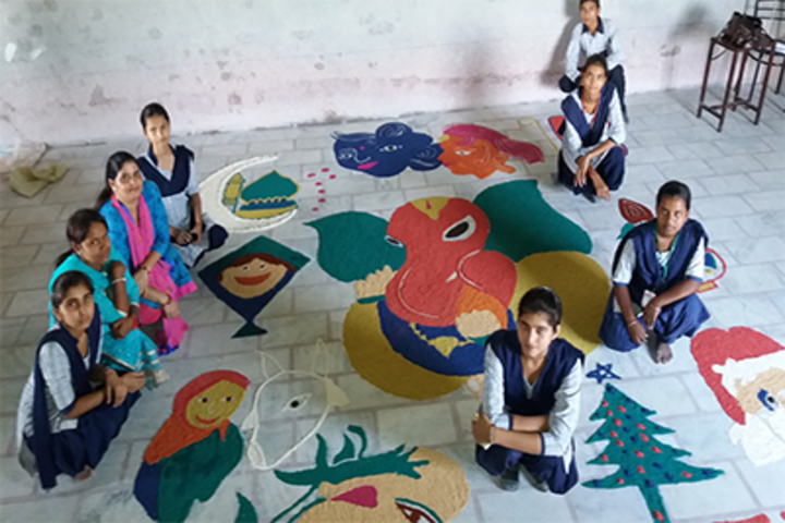 Bal Bharti Vidya Mandir High School-Rangoli