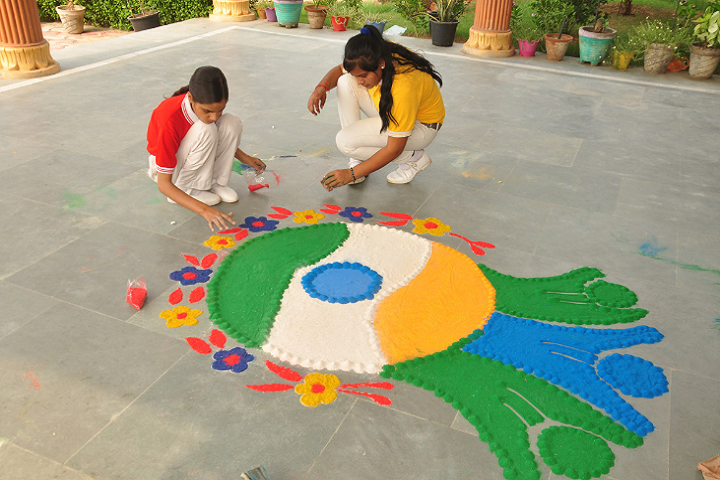 CDS International School-Rangoli Competition
