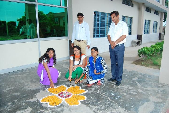 Chaudhary Chainsukh Senior Secondary School-Rangoli