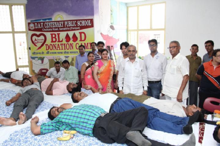 D A V Centenary Public School-Blood-Donation-Camp