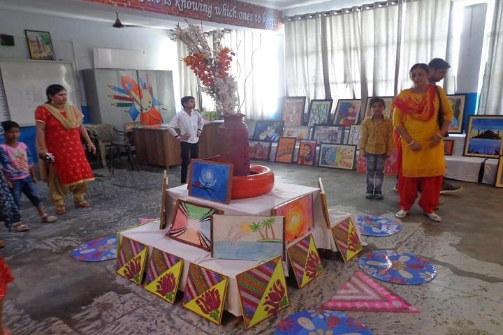 D A V Public School-Art Exhibition