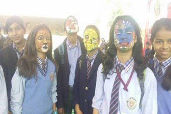 D C Model Senior Secondary School-Face Painting
