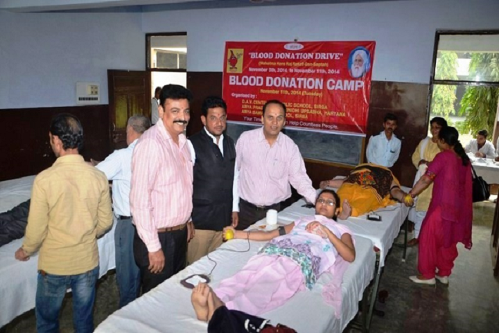 Dav Centenary Public School Sirsa-Blood Donations Camp