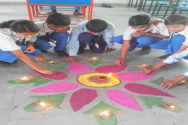 Deewal International School-Rangoli