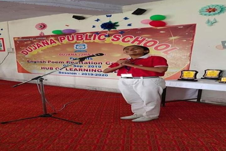 Dujana Public School-Poem Recitation