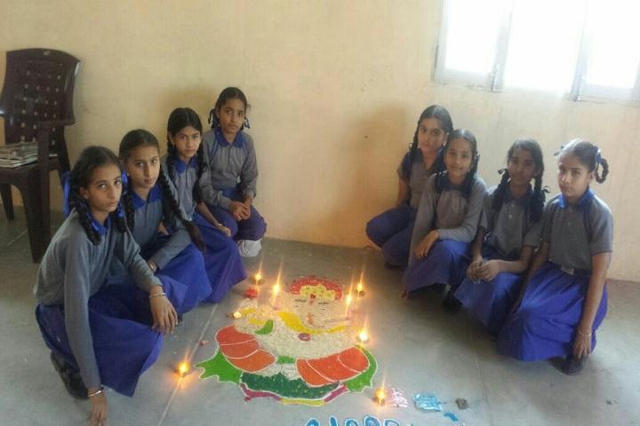 Future Diamonds Public School-Rangoli