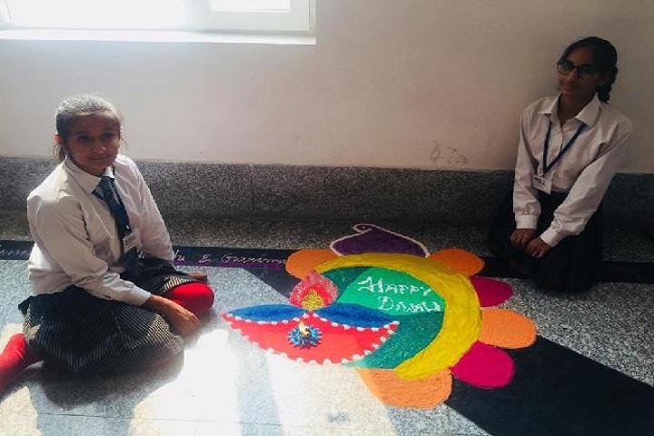 G D Goenka Public School-Rangoli Competition