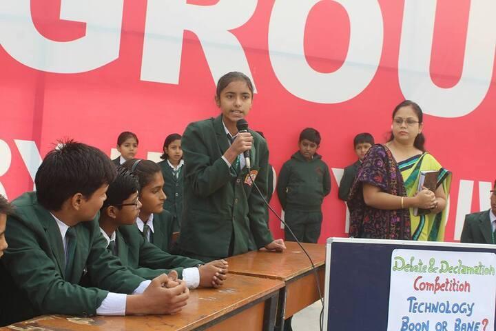 G A V Public School-Debate And Declamination