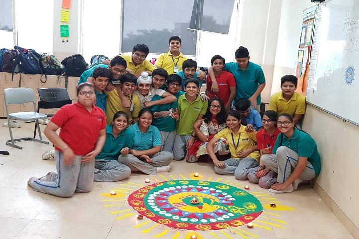 Gems International School-Rangoli Competition