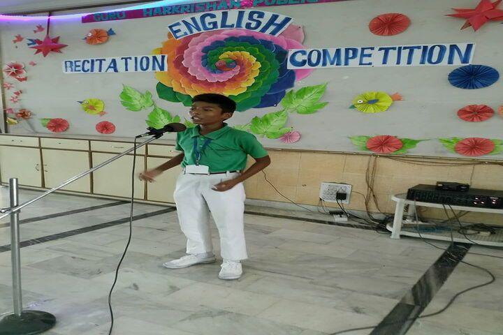 Guru Harkrishan Public School-Recitation Competiton