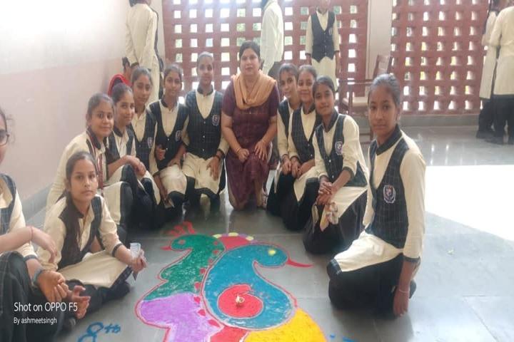 Guru Teg Bahadur Khalsa Public School-Rangoli