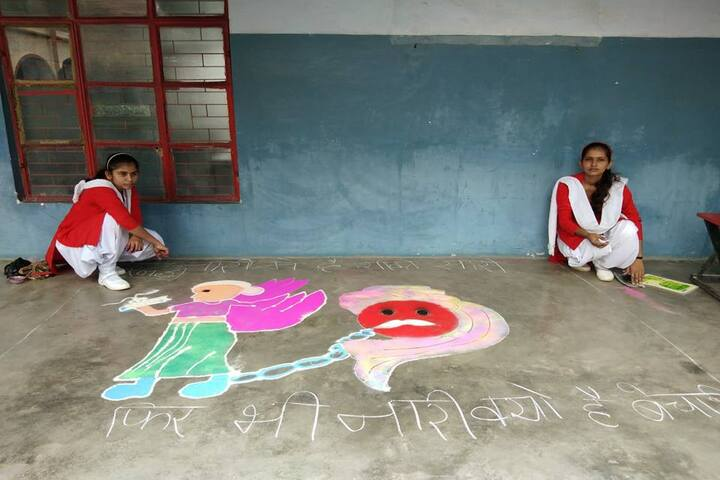 H D Senior Secondary Public School-Rangoli Competition