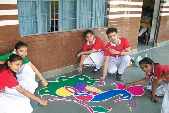 Haryana Senior Secondary School-Rangoli Competition