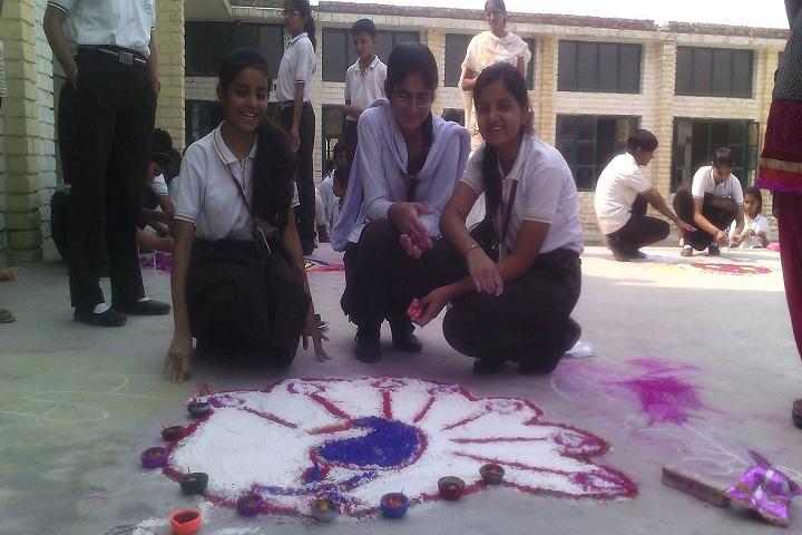 Holy Field Model Sr Sec School-Rangoli
