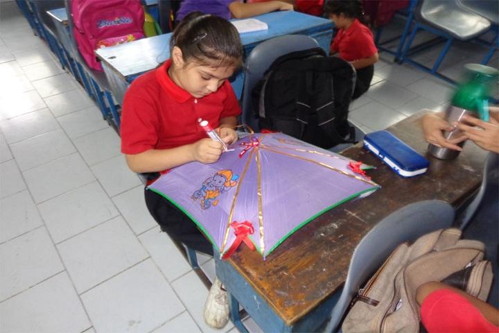 International Bharti School-Umbrella Making