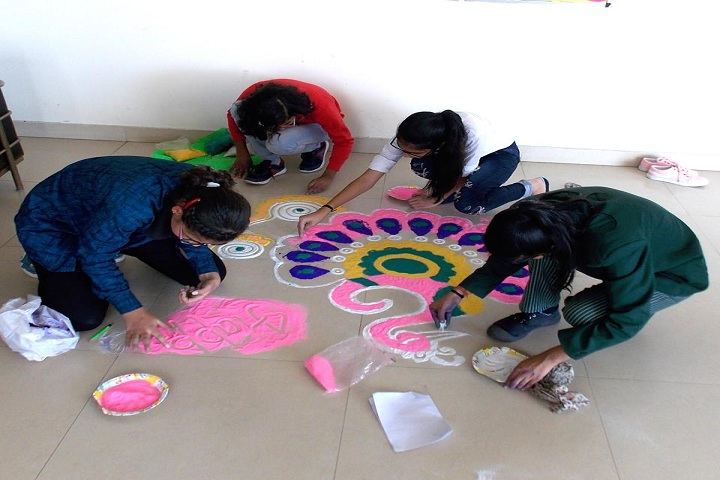 Ishwar International School-Rangoli
