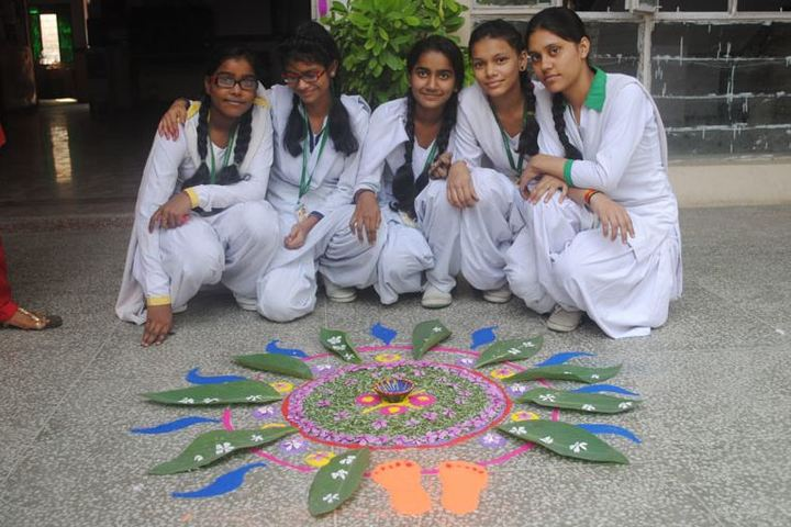 J J School Of Education-Rangoli Activity