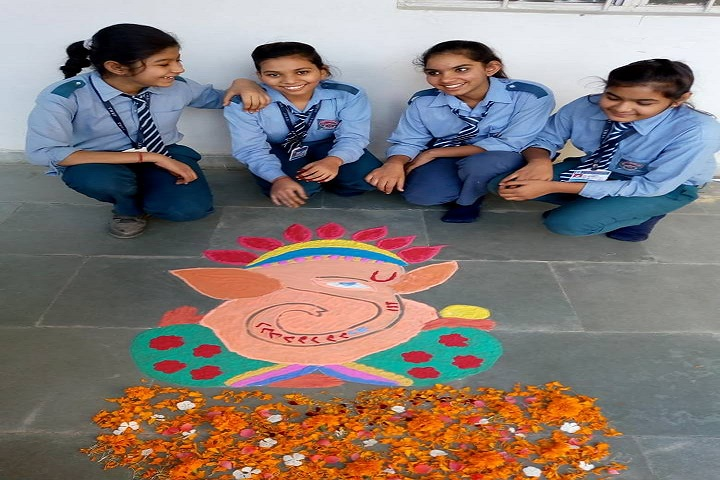 Jai Bharat Modern Senior Secondary School-Rangoli