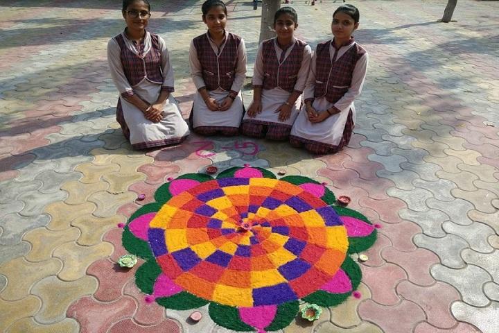 Kali Ram Dav Public School-Rangoli