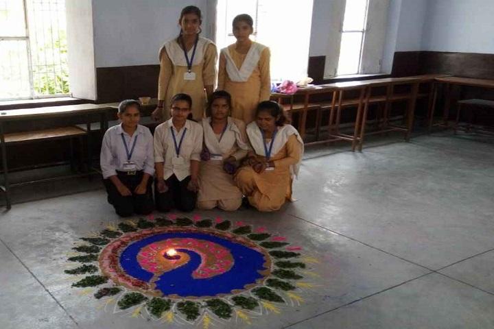 M D Senior Secondary School-Rangoli Competition