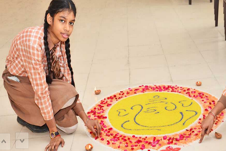 Manish Papneja Memorial Public School-Rangoli Competition