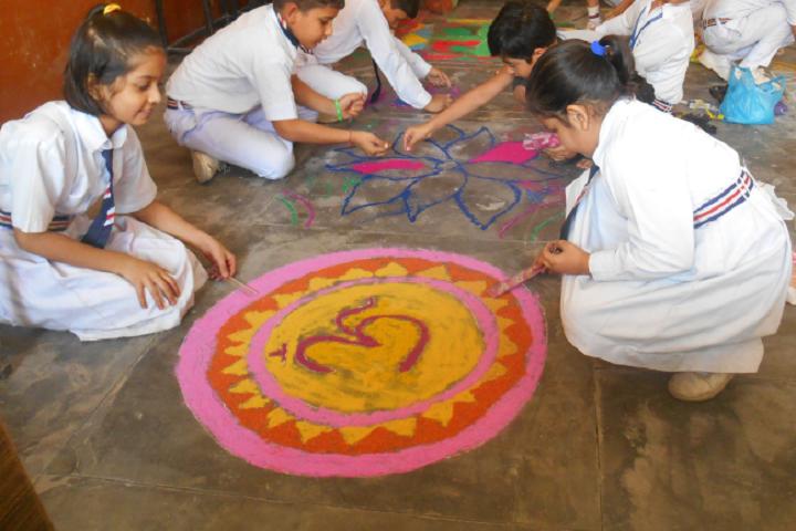 Mata Punna Devi Dav Public School-Rangoli Competition