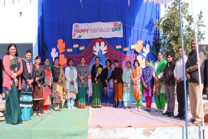 Model School Kalanaur-Republic Day Celebration