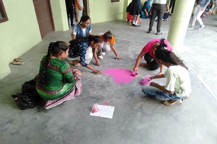 Nachiketan Model Senior Secondary School-Rangoli Competition