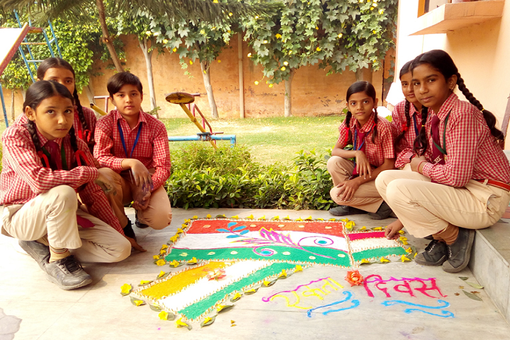 Navyug Senior Secondary School-Rangoli